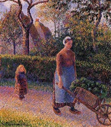 Woman with a Wheelbarrow, 1892 by Pissarro | Painting Reproduction