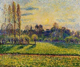 View of Bazincourt, Sunset | Pissarro | veraltet