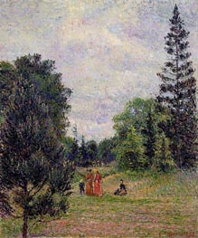 Kew Gardens, Crossroads near the Pond, 1892 by Pissarro | Painting Reproduction