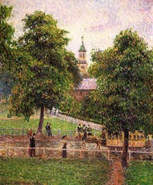 Church at Kew, 1892 by Pissarro | Painting Reproduction