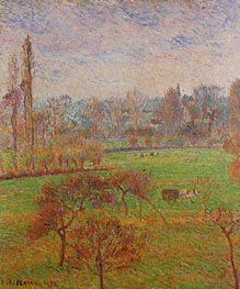 Morning, Autumn, Eragny, 1892 by Pissarro | Painting Reproduction