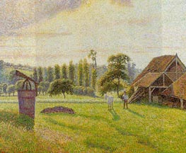 Brickworks at Eragny, 1888 by Pissarro | Painting Reproduction