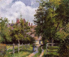Saint-Martin, near Gisors, 1885 by Pissarro | Painting Reproduction