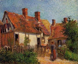 Old Houses at Eragny | Pissarro | Gemälde Reproduktion