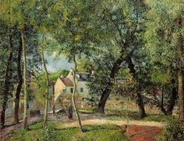 Paysage a Osny Pres de l'Abreuvoir, 1883 by Pissarro | Painting Reproduction