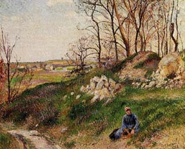 The Chou Quarries, Pontoise, 1882 by Pissarro | Painting Reproduction