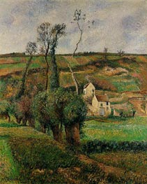 La Cote de 'Chou' a Pontoise, 1882 by Pissarro | Painting Reproduction