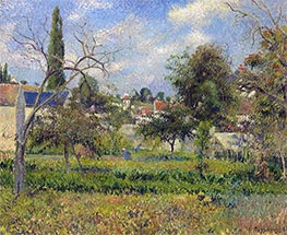 Kitchen Gardens, Pontoise, 1881 by Pissarro | Painting Reproduction