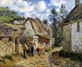 A Street in Auvers (Thatched Cottages and a Cow) | Pissarro | veraltet