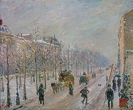 The Boulevards under Snow | Pissarro | veraltet