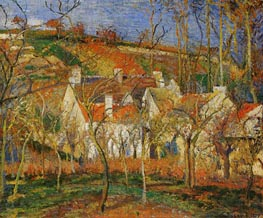 Red Roofs, Corner of a Village, Winter | Pissarro | Gemälde Reproduktion