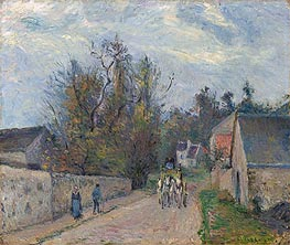 Diligence on the Road from Ennery to l'Hermitage, 1877 von Pissarro | Gemälde-Reproduktion