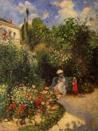 The Garden at Pontoise, 1877 von Pissarro | Gemälde-Reproduktion