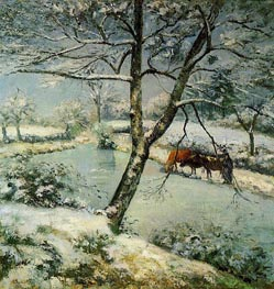 Winter at Montvoucault (The Effect of Snow), 1875 by Pissarro | Painting Reproduction