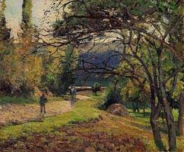 Landscape in the Woods, Pontoise, 1875 von Pissarro | Gemälde-Reproduktion