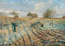 The Hoar Frost, 1873 by Pissarro | Painting Reproduction