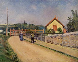 The Railroad Crossing at Les Patis, c.1873/74 von Pissarro | Gemälde-Reproduktion