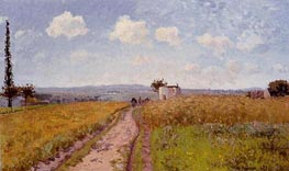 June Morning, View over the Hills of Pontoise, 1873 by Pissarro | Painting Reproduction