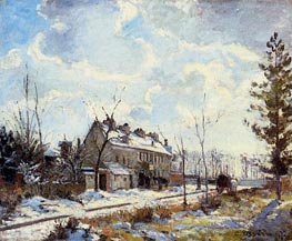 Louveciennes Road, The Effect of Snow, 1872 by Pissarro | Painting Reproduction