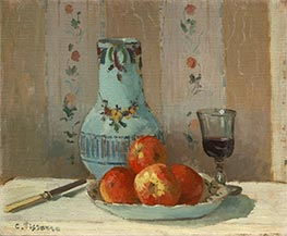 Still Life with Apples and Pitcher, 1872 by Pissarro | Painting Reproduction