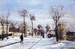 Street in the Snow, Louveciennes, c.1872 by Pissarro | Painting Reproduction