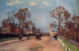 The Avenue, Sydenham, 1871 by Pissarro | Painting Reproduction