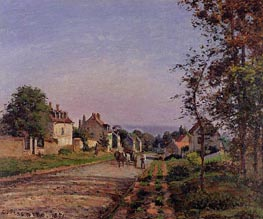 Outskirts of Louveciennes, the Road, 1871 by Pissarro | Painting Reproduction