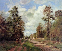The Road to Louveciennes (Outskirts of the Forest), 1871 by Pissarro | Painting Reproduction