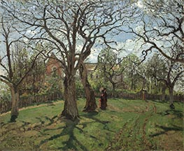 Chestnut Trees at Louveciennes, Spring | Pissarro | Gemälde Reproduktion