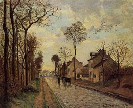 The Louveciennes Road, 1870 by Pissarro | Painting Reproduction