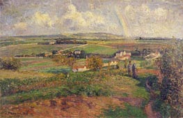 The Rainbow, 1877 by Pissarro | Painting Reproduction