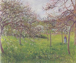 Temp Gris, Eragny (Pommes an Fleurs), 1897 by Pissarro | Painting Reproduction