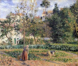 Vegetable Garden at the Hermitage near Pontoise, 1879 by Pissarro | Painting Reproduction