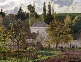 House in the Hermitage, Pontoise, 1873 by Pissarro | Painting Reproduction
