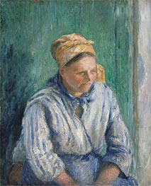 Washerwoman, 1880 by Pissarro | Painting Reproduction