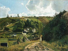 Jalais Hill, Pontoise, 1867 by Pissarro | Painting Reproduction