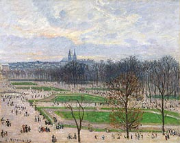 The Garden of the Tuileries on a Winter Afternoon, 1899 by Pissarro | Painting Reproduction