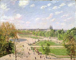 The Garden of the Tuileries on a Spring Morning, 1899 by Pissarro | Painting Reproduction