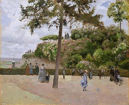 The Public Garden at Pontoise, 1874 by Pissarro | Painting Reproduction