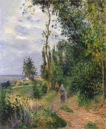 Cote des Grouettes, near Pontoise, c.1878 by Pissarro | Painting Reproduction