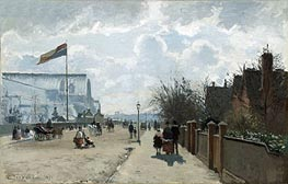 The Crystal Palace, 1871 by Pissarro | Painting Reproduction