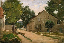 Road to Port-Marly, c.1860/67 by Pissarro | Painting Reproduction