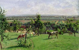 Hillside of Vesinet, 1871 by Pissarro | Painting Reproduction