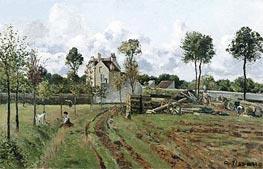 Pontoise Landscape, c.1872 by Pissarro | Painting Reproduction