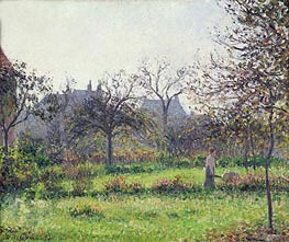 Morning Sun, Autumn, Eragny, 1897 by Pissarro | Painting Reproduction
