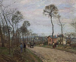 The Road from Louveciennes, 1870 by Pissarro | Painting Reproduction