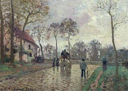The Coach to Louveciennes, 1870 by Pissarro | Painting Reproduction