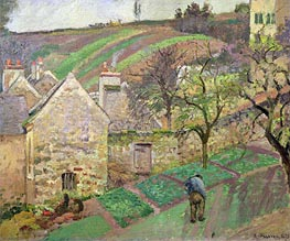 Hillside of the Hermitage, Pontoise, 1873 by Pissarro | Painting Reproduction
