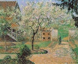 Plum Trees in Blossom, Eragny (The Artist's Home), 1894 von Pissarro | Gemälde-Reproduktion