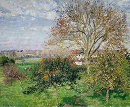 Autumn morning at Eragny, 1897 von Pissarro | Gemälde-Reproduktion